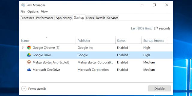 Cara Mempercepat Kinerja PC, Laptop, Netbook, Notebook di Windows 8 Dan 10