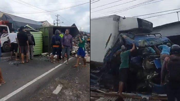 Berita Semarang Kecelakaan Kecelakaan maut melibatkan truk boks dan truk pengangkut sampah terjadi di Jalan Raya Semarang Solo Bawen Kab Semarang Sabtu siang
