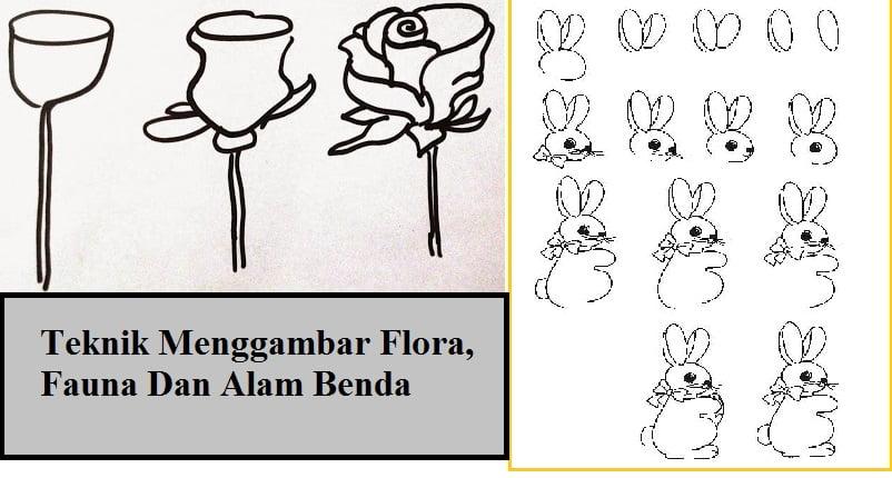 Teknik Menggambar Flora, Fauna, dan Alam Benda